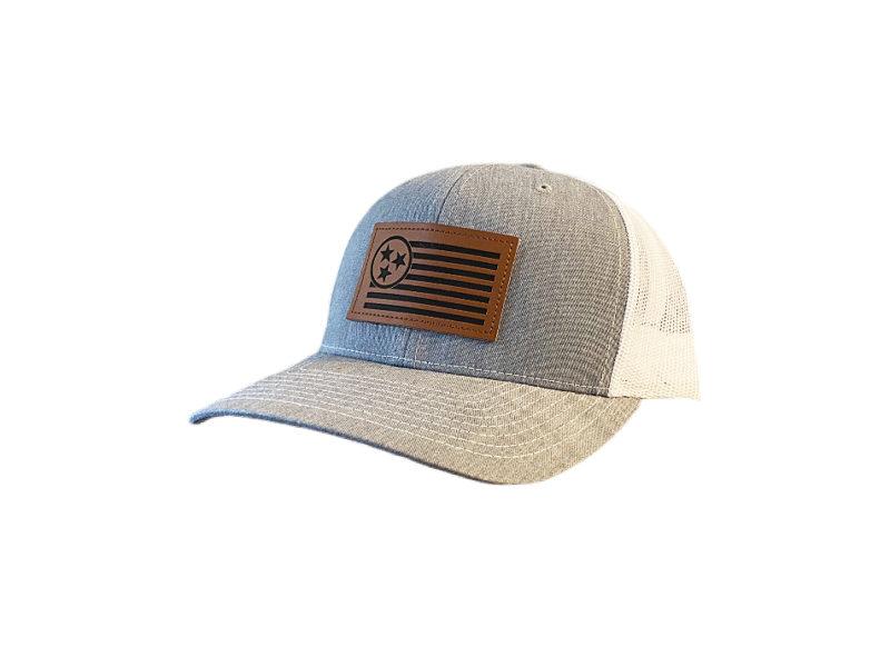 Leather 2 TN Trucker Patch Hat - TriStar Hats Co